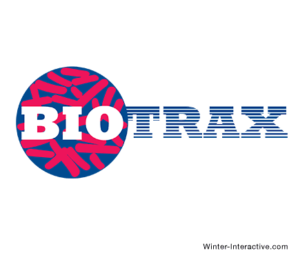 Biotrax Testing Laboratories, logo design Winter Interactive Inc