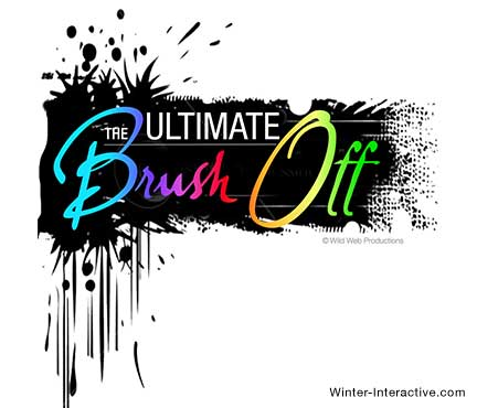 Brush Off reality TV series, logo design Winter Interactive Inc