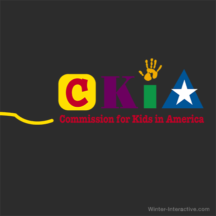 Commission For Kids In America, logo design Winter Interactive Inc
