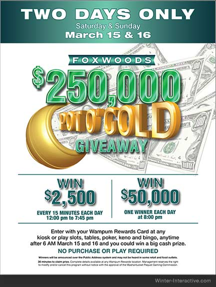 Foxwoods Casino, illustrations for St. Patrick's Day promotion, created by Rob Winter