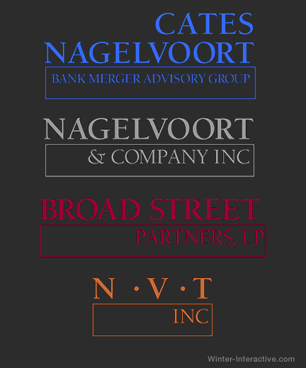 Nagelvoort family of logos for Merchant Banking, design Winter Interactive Inc