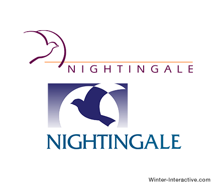 Nightingale Publishing, logo design Winter Interactive Inc