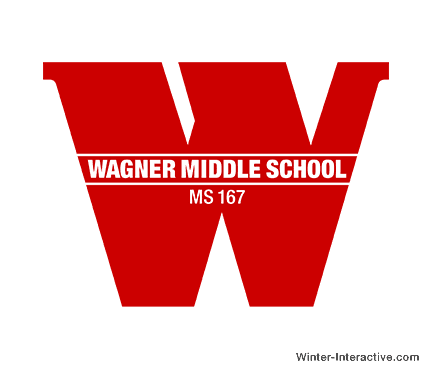 Wagner Middle School NYC, logo design Winter Interactive Inc