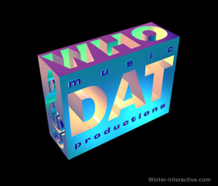 Who Dat Music Prod logo design Winter Interactive Inc