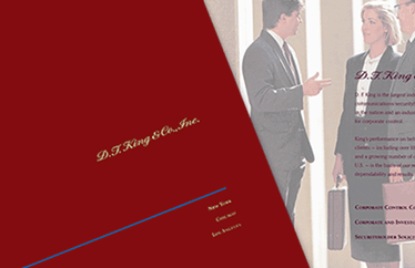 "<span class=""firstWord"">Print: </span>DF King Corporate Capabilities Brochure"