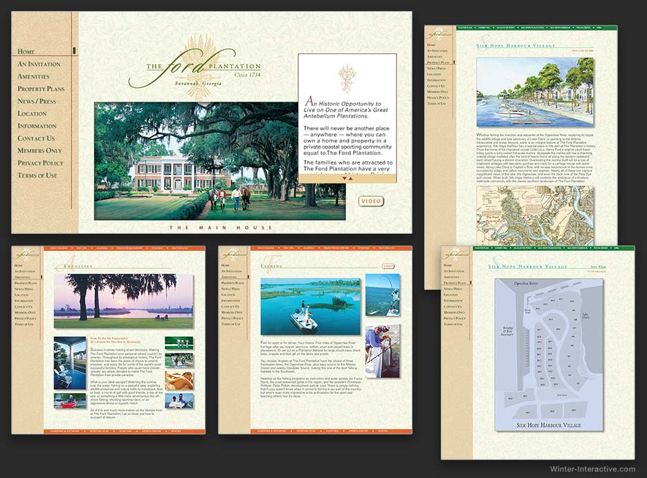 Ford Plantation real estate sales website design and development Winter Interactive Inc